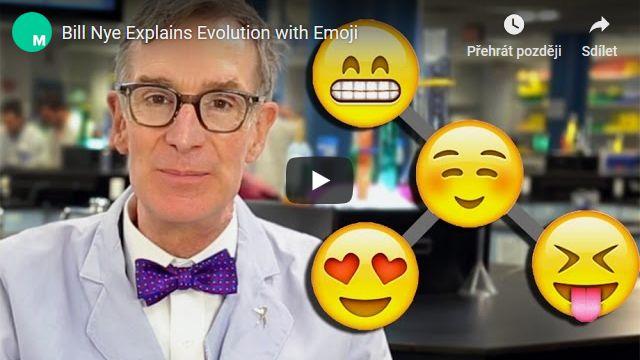 Bill Nye vysvětluje evoluci pomocí emotikonů